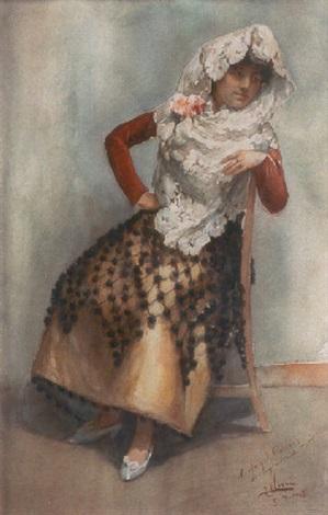 mujer sentada by josé nogué massó