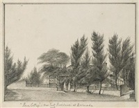 rose cottage, ireland island, bermuda (within an album of drawings) by richard john nelson