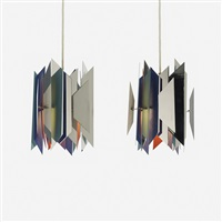 divan 2 pendant lamps (pair) by simon p. henningsen
