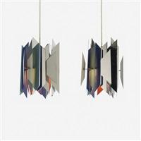 divan 2 pendant lamps (pair) by simon p. henningsen