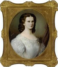 portrait der kaiserin elisabeth von österreich im weissen kleid by friedrich krepp