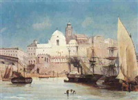 bareaux dans le port d'alger by adolphe aze