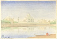 taj mahal by charles william bartlett