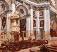 church interior by adolf fényes