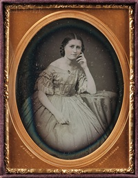 quarter-plate daguerreotype of a young woman by jeremiah gurney