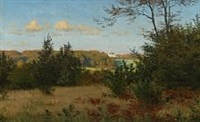 autumn landscape near fredensborg, denmark by ludvig kabell