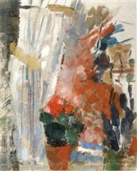 la fenêtre aux bégonias rouges (éte 1912, peint à boitsfort) by rik wouters