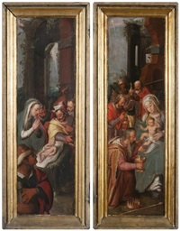 l'adoration des bergers, l'adoration des mages (pair) by flemish school (16)
