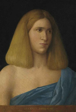 portrait of a young man bust length by giovanni bellini
