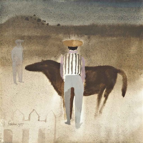 men and horse by mary fedden