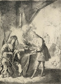 essau selling his first birthright to jacob by pieter rodermondt