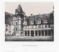 cour du château de blois, escalier de françois ier, blois (3 works) by francois alphonse fortier