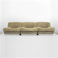 fine 3 piece sectional sofa or 3 lounge chairs by pierre cardin