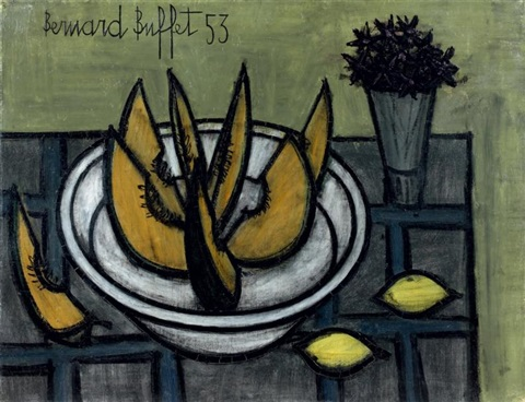nature morte au melon by bernard buffet