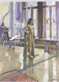 elizabetta at window by geoffrey humphries