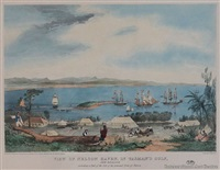 view of nelson haven, in tasman's gulf, new zealand; including a part of the site of the intended town of nelson by charles heaphy