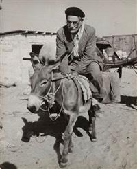 réfugié israélien à dos de mulet, israël by robert capa