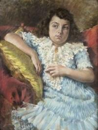 portrait d'edith gex-salvati, nièce de la poétesse savoyarde amélie gex by pierre andry farcy