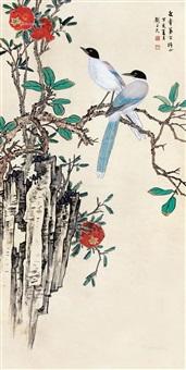 双喜临门 立轴 设色纸本 by liu zijiu