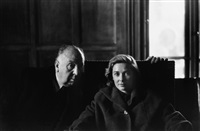 alfred hitchcock and vera miles, nyc by elliott erwitt