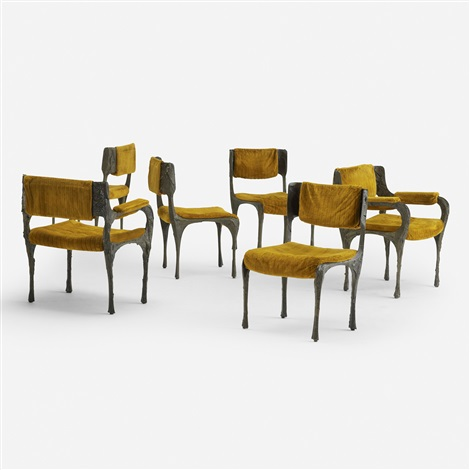 Good Dining Chairs Model Pe 105 (set Of 6) By Paul Evans