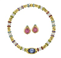 suite of jewelry (3 works) by bulgari
