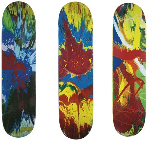 untitled skateboard deckspin 3 works by damien hirst
