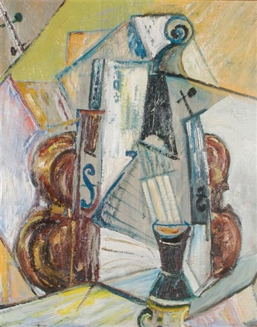 still life with violin by jack tworkov