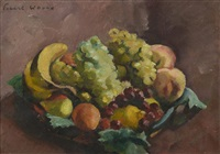corbeille de fruits by charles alexandre picart le doux