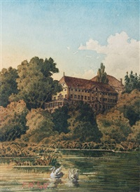 augustiner-chorherrenstift (altes schloß) in herrenchiemsee by emil brack