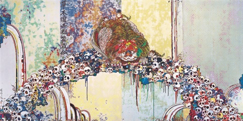 福臨之獅 the blessed lion by takashi murakami