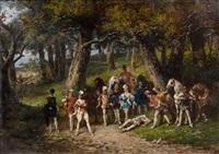 duel dans le sous-bois by ladislaus bakalowicz