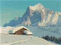 hiver à grindelwald by charles henry contencin