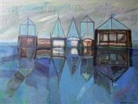 les voiliers au quai by jerzy zablocki
