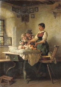 admiring the newborn by wilhelm roegge the younger