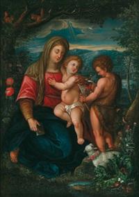 madonna mit dem jesuskind und johannesknaben by peter (petrus) snyers