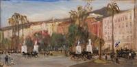 piazza vittoria a napoli by mario cortiello