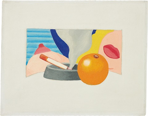 study for bedroom painting 2 by tom wesselmann