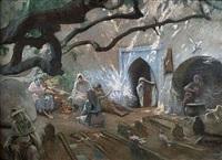 le cimetière des princesses by adolphe ernest gumery