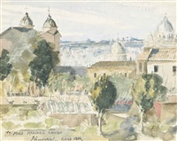 view of rome by john lavery
