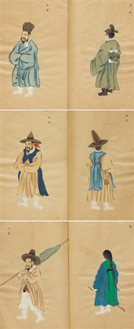 official uniforms of chosun tongsinsa (in 6 parts) by anonymous-korean