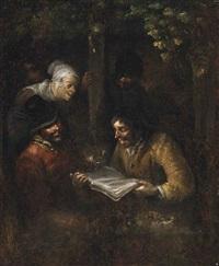 peasants singing by egbert van heemskerck the elder