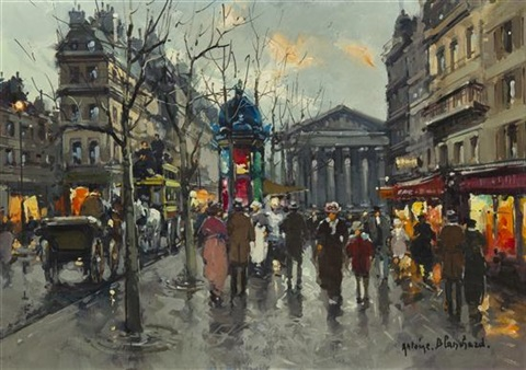 a rainy day in paris by antoine blanchard