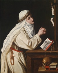 die heilige katharina von siena by cristofano allori