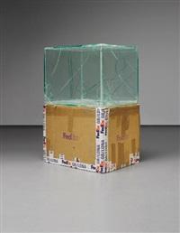 fedex box, international priority, los angeles-beijing (tracking no. 875468976040), beijing-paris (tracking no. 874269809620) by walead beshty