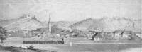 steiermark stadt voitsberg mit der ruine greifenegg by franz emphinger