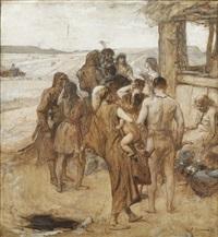 etude pour l'âge de bronze: les fermiers (study) by fernand cormon