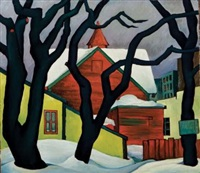 untitled (snow scene, winnipeg) by caven ernest atkins