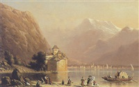 le chàteau de chillon, suisse by anthon adrianus sem