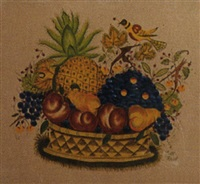 basket of fruit and a bird by bill rank